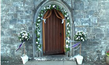 Wedding church candles church lanterns floral arches bridal wedding arches for outside the church junglespirit Gallery